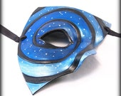 Starry Night Leather Mask in Black and Blue