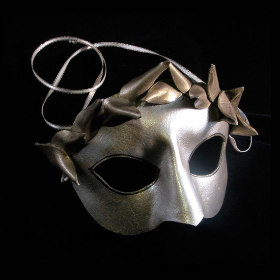 Greek Goddess, Handmade Leather Mask