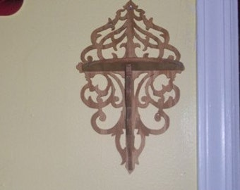 Fretwork shelf