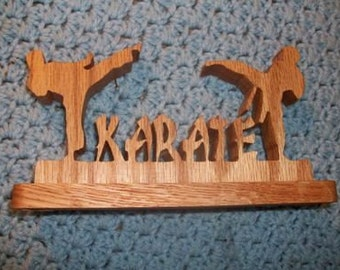 Karate wood sign