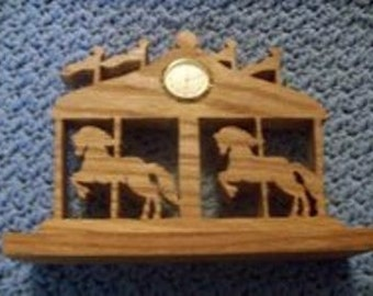 Carousel mini desk clock
