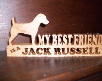 Wooden Jack Russell sign