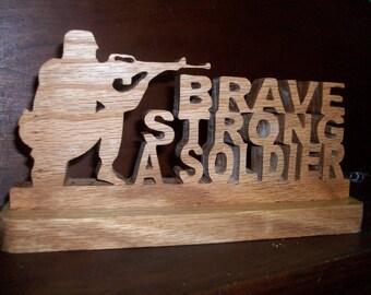 Wooden soldier display