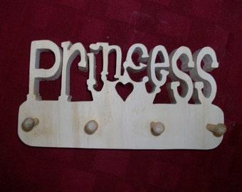 Wooden Princess wall peg rack