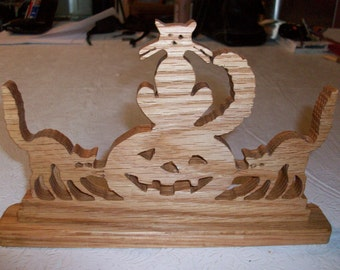 Wooden halloween sign and display