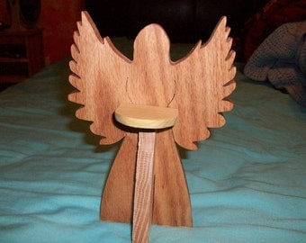 Wooden Angel candle holder