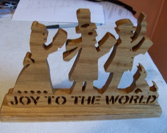 Wooden Joy to the world sign display