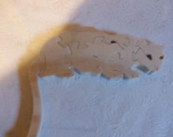 Wooden mountain lion children's jigsaw puzzle