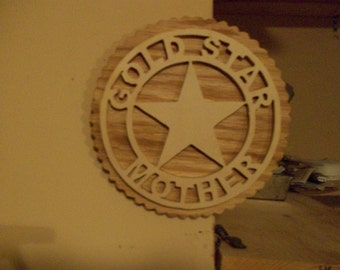 Wooden Gold Star Mother wall hanging