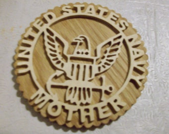 Wooden United States Navy Mother wall hanging