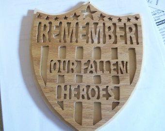 Remember our Fallen Heroes Wall Hanging