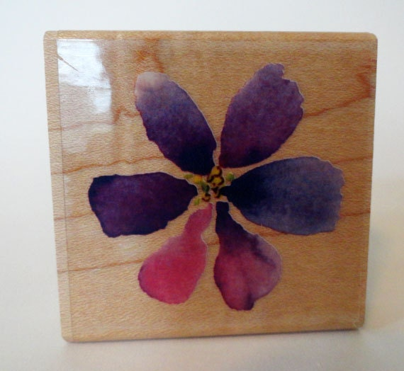 Flower Rubber Stamp by Inkadinkado