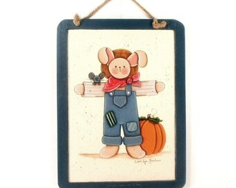 Scarecrow Hand Painted Slate Board x189