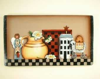 Country Crafts Collection Hand Painted Wood Plaque 652
