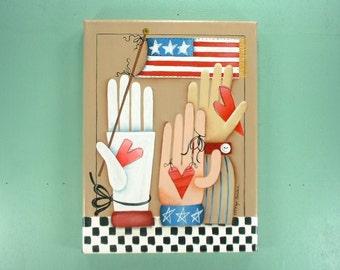 Liberty Hands Hand Painted Art 682