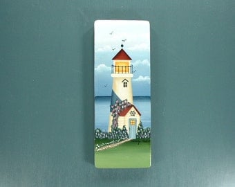 Lighthouse Cove Hand Painted on Wood 513