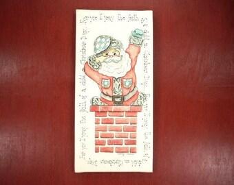 Santa Clause Prayer Handpainted Christmas Decor x157