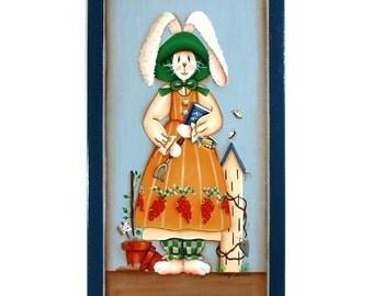 Spring Garden Bunny Decorative Wall Art 203
