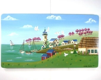 Coastal French Village Decorative Art 598