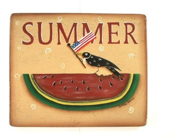 Summer Melon Sign Art on Wood 607