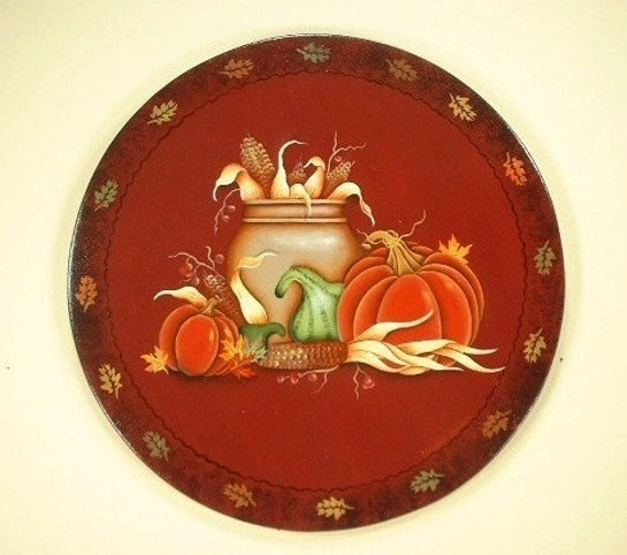Country Harvest Farmers Market Hand Painted Wood Plaque 634