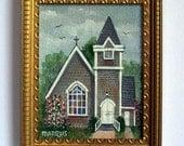 Miniature Painting of Sconset Chapel, Nantucket