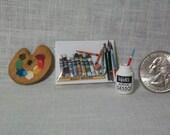 Miniature Art Supply Kit (19 piece)