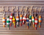Miniature Lobster Buoys  (set of 12) - Half Scale size