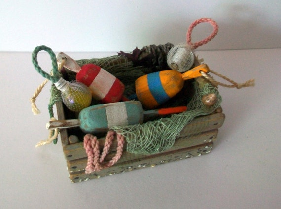 Miniature Fisherman's Crate (1 inch dollhouse scale)