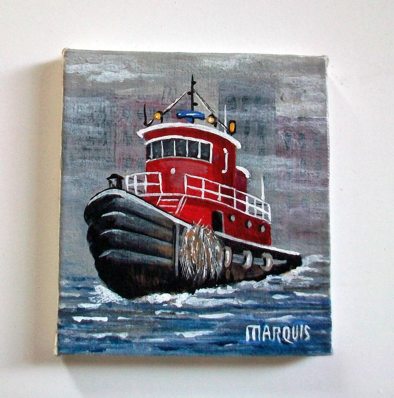 Marquis Miniatures: Miniature Tug Boat Painting