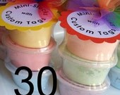 30 sidewalk paint mini-stacks with custom tags - choose your paint colors, tag design, and tag text