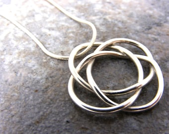 Pendant Only, Sterling Silver Celtic Knot Necklace Handmade, birthday, holiday, anniversary, wedding, gift