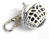 Personalized HOCKEY Charm for Purse -  Backpack -  Key Ring - ZIpper Pull