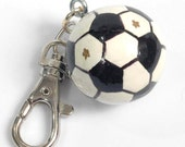 Personalized SOCCERCharm for Purse -  Backpack -  Key Ring - ZIpper Pull