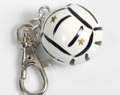 Personalized VOLLEYBALL Charm for Purse -  Backpack -  Key Ring - ZIpper Pull