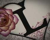 Wedding Banner LOVE Eggplant Head Table Decor Photo Prop Engagement Banner