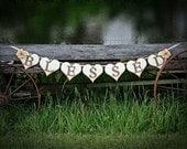 Wedding Garland Wedding Banner BLESSED Wedding Photo Prop Head table Decor