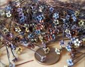 """12 Sweet Vintage Miniature Flower Enameled Copper Headpins - 2"""" by Bullseyebeads"""
