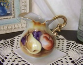 CLEARANCE Vintage Enesco Japan Miniature Fruit Pitcher Vase E2359