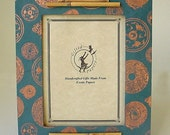 """Teal Asian Coin Picture Frame-Small For 4"""" x 6"""" Photos"""