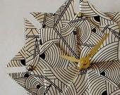 Art Deco Origami  Clock-Small/ Stocking Stuffer