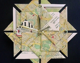 Berlin Street Map Origami Clock-Large