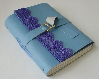 Faux Leather Journal/Notebook-Blue - Stocking Stuffer