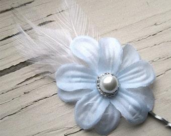 Hair pin small light blue ice girls hair accessories