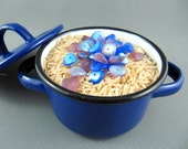 Bead Soup Glass Bead Destash, Sapphire and Lilac