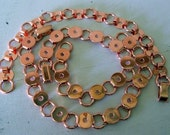 3 copper tone Bracelet Findings Forms blanks for button jewelry 8mm