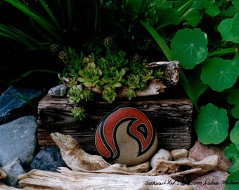 Cool Art Still Life Photography Unique Art Landscape of Rock Art in a Green Garden & Rustic Wood Home Decor Gift Ideas for Him Gifts for Her
