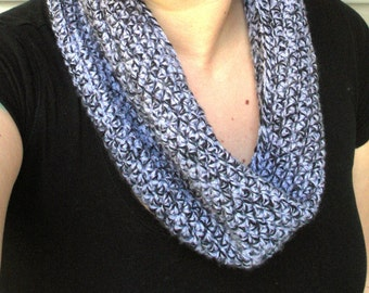 SALE, Lavender crochet Cowl neck warmer scarf, juniors or women, ready to ship.