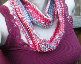SALE, Double Wrap Crochet Cowl Infinity Scarf Neck Warmer, ready to ship.