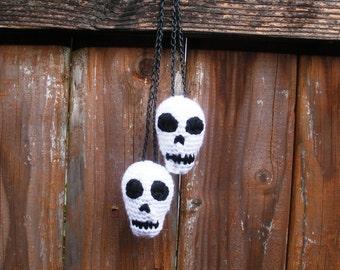 SALE Plush Crochet Hanging Skulls Stuffies, ready to ship.